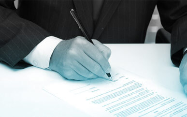 Employment - image of a document being signed