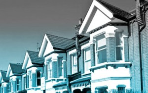 A row of houses. if you wish to sell or buy a property our fee information is available on this website