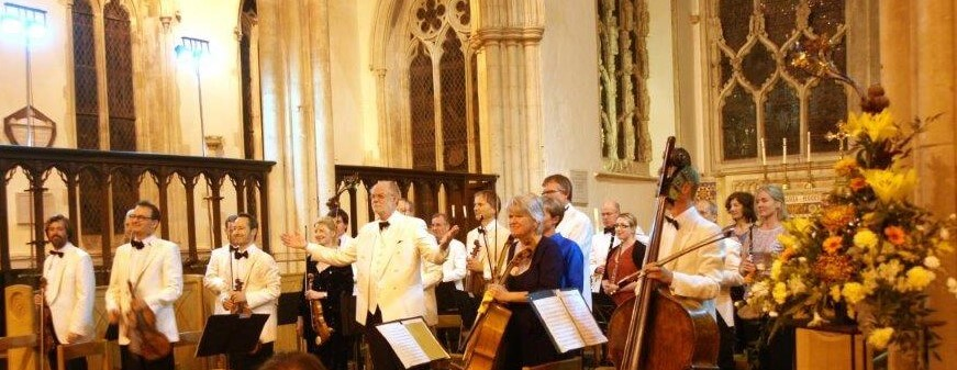 Orchestra of St Johns perform at Dorchester Abbey, Dorchester on Thames