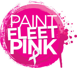 Paint Fleet Pink Week 10 - 17 October 2015 vivid pink painty circle with white crossover ribbon