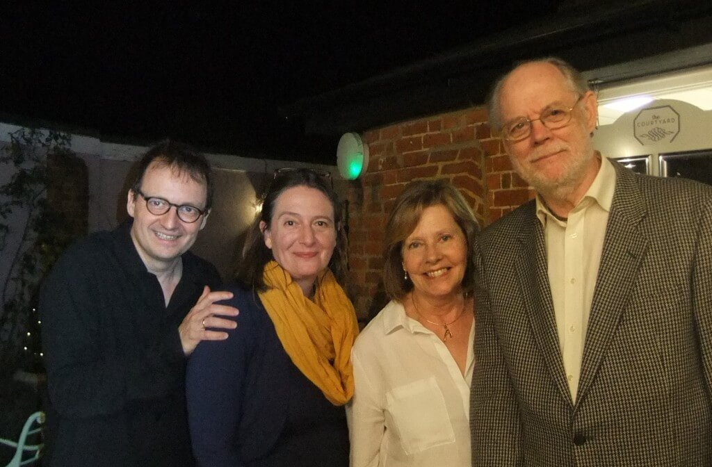 L-R Jan Schmolck, Yvette Christian, Janet Kelly and John Lubbock at Café Courtyard following the concert