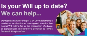 Phyllis Tuckwell Hospice Make a Will Week