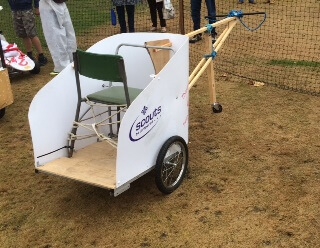Scouts Entry for the Pram Race 2016