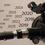 A telescope and years from 2018 going forward