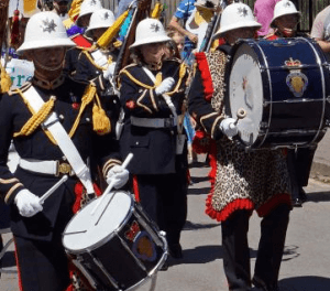 Marching band at Hartley Wintney Festival